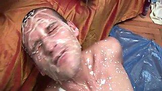 Creampie Gay facial Cumshot