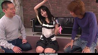 Nozomi Hazuki swallows cock after severe group sex - More at 69avs com