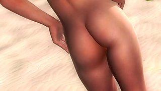 Tina Armstrong                                      DOA5 - nude posing
