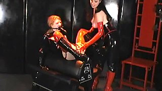 Wild Anastasia Pierce and Madison Young perform in exquisite BDSM lesbian sex scene