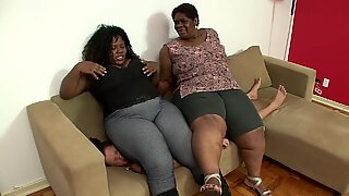 plumper ass-smothering pecs sitting double