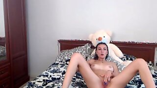Teddy Bear Hugging Teen Most Pervert Teen Cam Girl Enjoying Part 1 Hd
