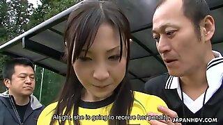 Japanese soccer sluts gets multiple cocks