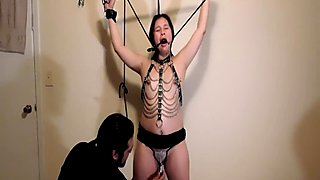 Tied up bondage orgasm V-log