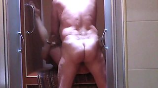 Pleasing my mature Arab wife Nadia in shower