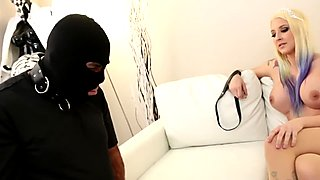 Mistress Leya makes him eat her creampie