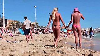 Vier Strandfotzen auf Mallorca!!!