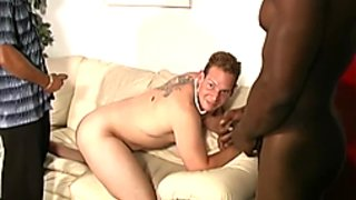 White perv gets black cock punishment