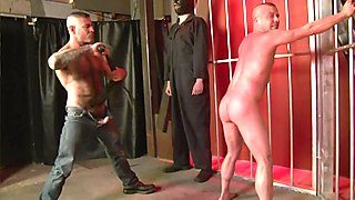 2 guys using bound sex slave - Factory Video
