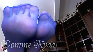 Nice blue Stocking feet