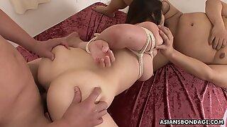 Haruka Osawa Likes to Feel Two Hard Dicks Inside Her