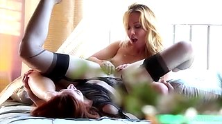 Stoya and Kayden Kross eating each other's pussies