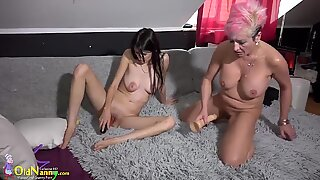 OldNanny Mature gets fisted in ass and pussy