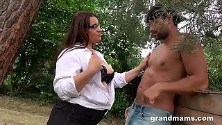 Weird Interaction Between Slutty Granny and Toy Boy