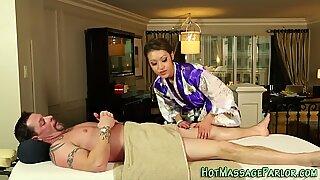 Asian masseuse spunked
