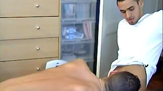 Full video: A innocent repair guy serviced his big cock by a guy!