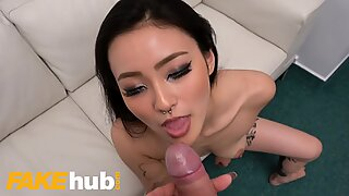 Fake Agent Asian babe Rae Lil Black fucked