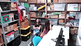 Arielle Faye and Jasmine Summers blows the LP Officer