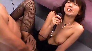 Misato Kuninaka on the subway her furry muff teased and pleased
