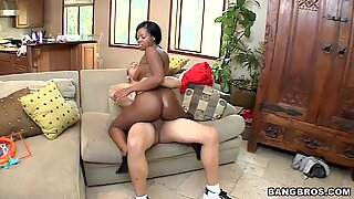 Sexy Black Girl Gets White Dick