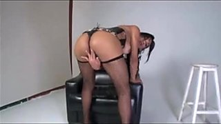 Perfectly Rounded Shemales Jerk Off Their Big Stiff Boners