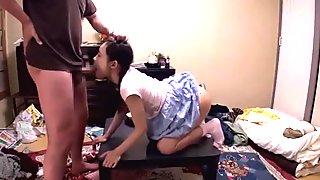 Petite Jav Schoolgirl Gets Deep Throat Cock Gag Scared She Pisses Her Panties