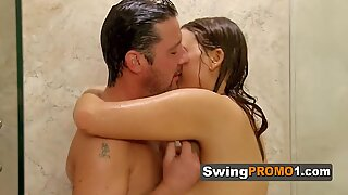 Swingers love fucking at the shower before getting to the red room and have a massive orgy. Join us.