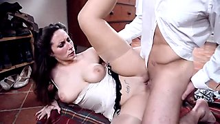 Hot milf Paige sucks and rides his juicy big cock