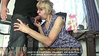 Euro granny porn casting