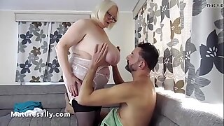 Busty Mature Gilf with her young man
