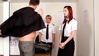 Agent Mishka Devling giving rough hj treatment