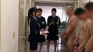 chinese woman Guards Supervise man-cream Collection (Censored)