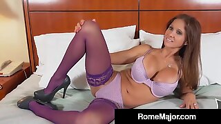 cuckold Rio Blaze poked By dark-hued Bull Hotel Guy Rome Major!