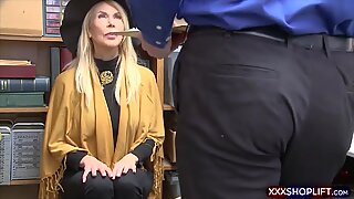 Cute shoplifter gets fucked in front of her grandma