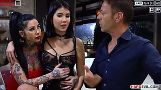 Rocco supplies again, trio Sexbombs in a gang Gangbang - Lady Dee, Megan Inky, Lilu Moon, Alisha Rage