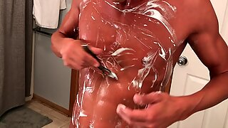 Shaving and Masturbating