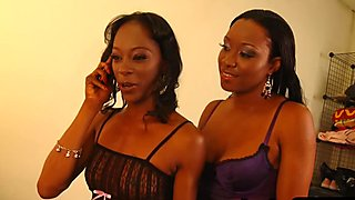 Two hot ebony lesbian having fun whit themselves