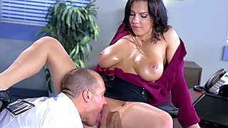 Luscious big boobed babe Lylith Lavey getting nailed