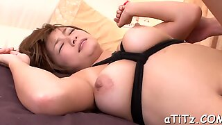 Big tits Asian s exquisite toying