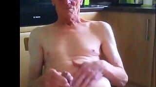 old grandad masturbates