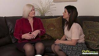 OldNannY British Matures Lesbian Sex Adventure