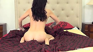 Dallas Slips Her Dress Off and Starts Riding Cock Till She